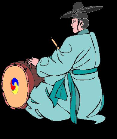 Korean Man Drumming